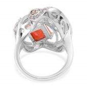 Jewelry - Simulated Orange Diamond, Austrian Crystal ring